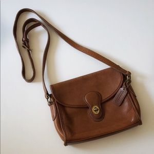 Coach I Vintage Brown Leather Crossbody Bag